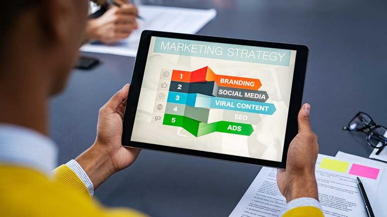 Video Outcomes video marketing services on tablet device