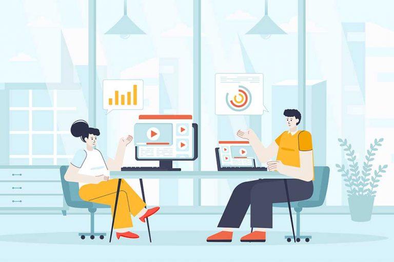 Video Outcomes Video Marketing Discussion Graphic